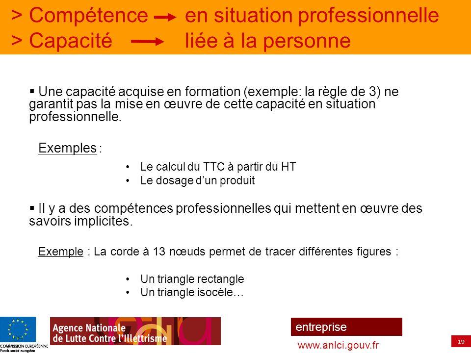 > Compétence. en situation professionnelle > Capacité