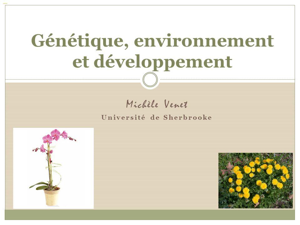 Génétique, environnement et développement