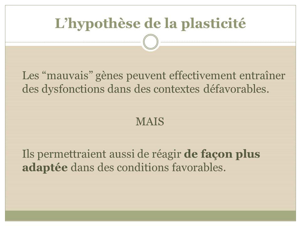 L'hypothèse de la plasticité