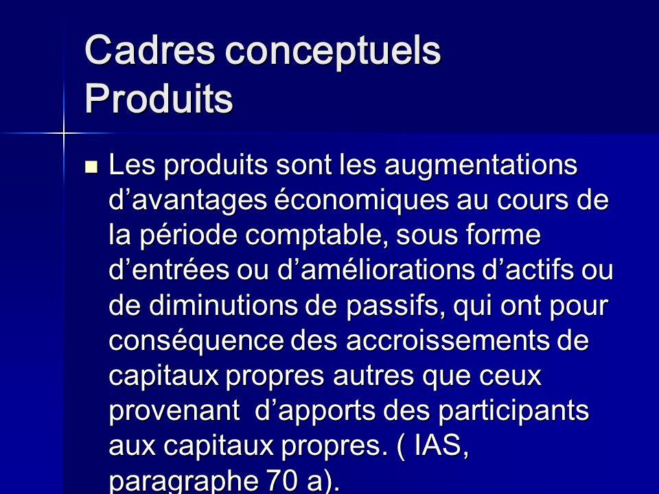 Cadres conceptuels Produits