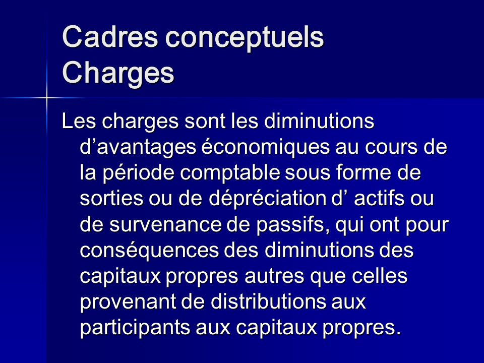 Cadres conceptuels Charges