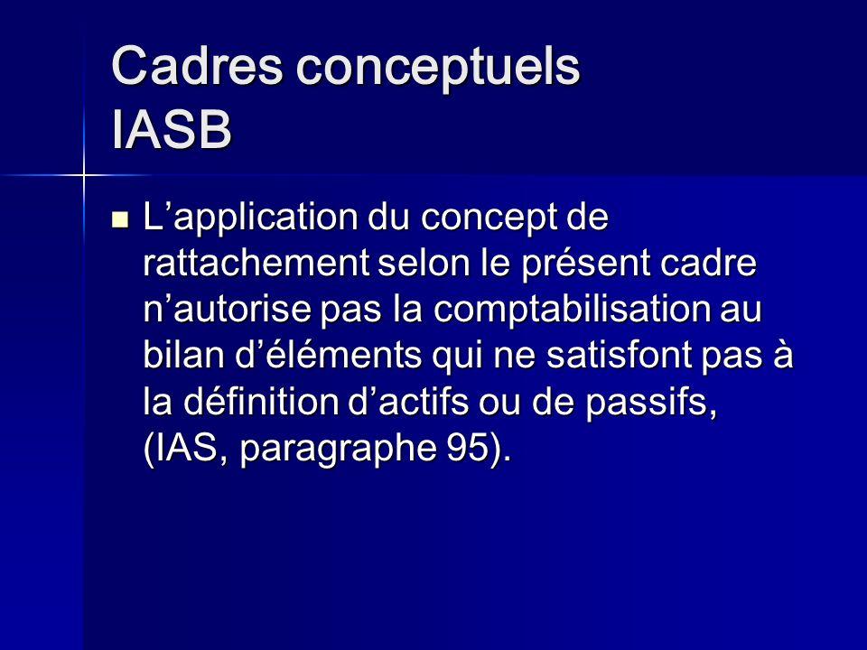 Cadres conceptuels IASB