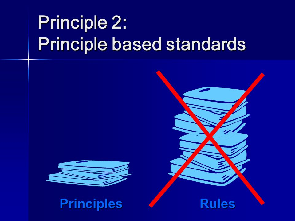Principle 2: Principle based standards