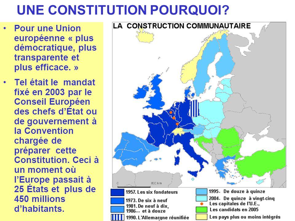 UNE CONSTITUTION POURQUOI