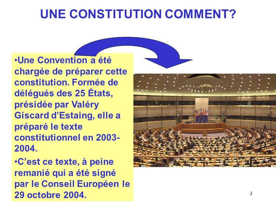 UNE CONSTITUTION COMMENT