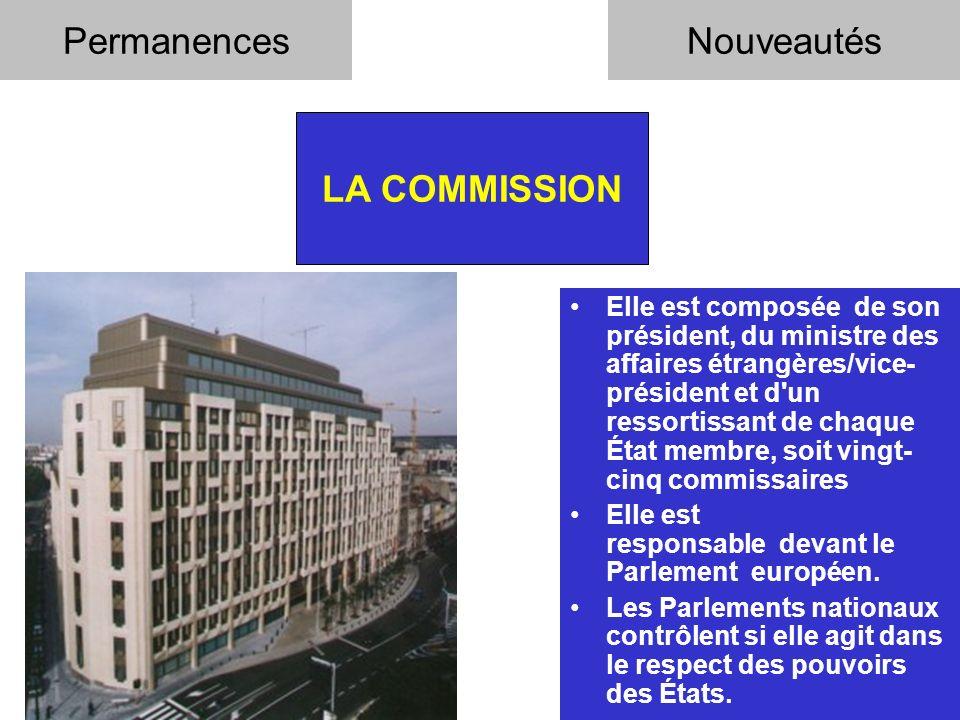 Permanences Nouveautés LA COMMISSION