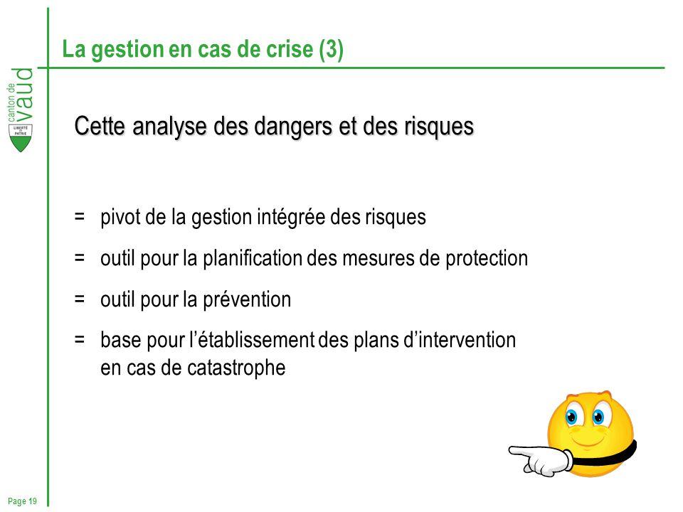 La gestion en cas de crise (3)