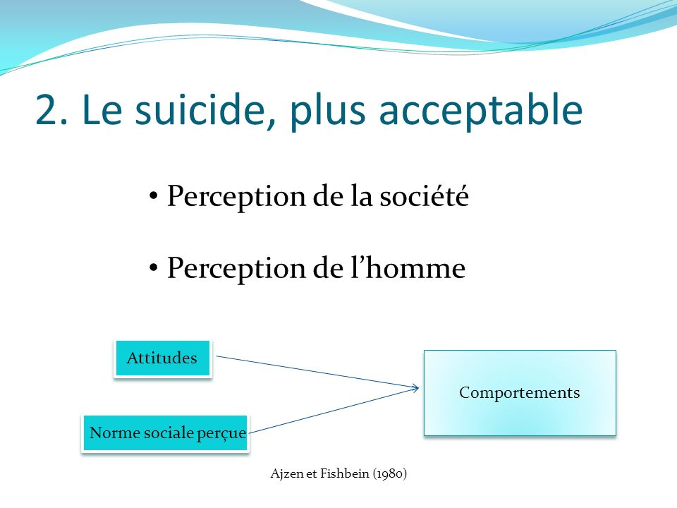 2. Le suicide, plus acceptable