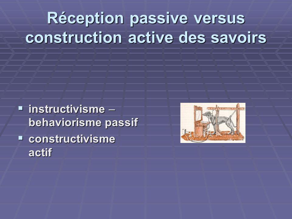 Réception passive versus construction active des savoirs
