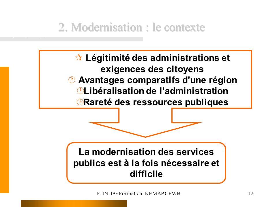2. Modernisation : le contexte