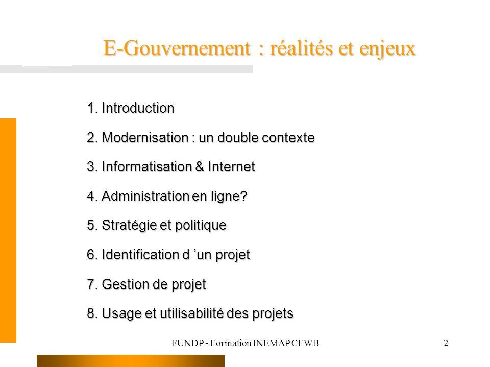 E-Gouvernement : réalités et enjeux