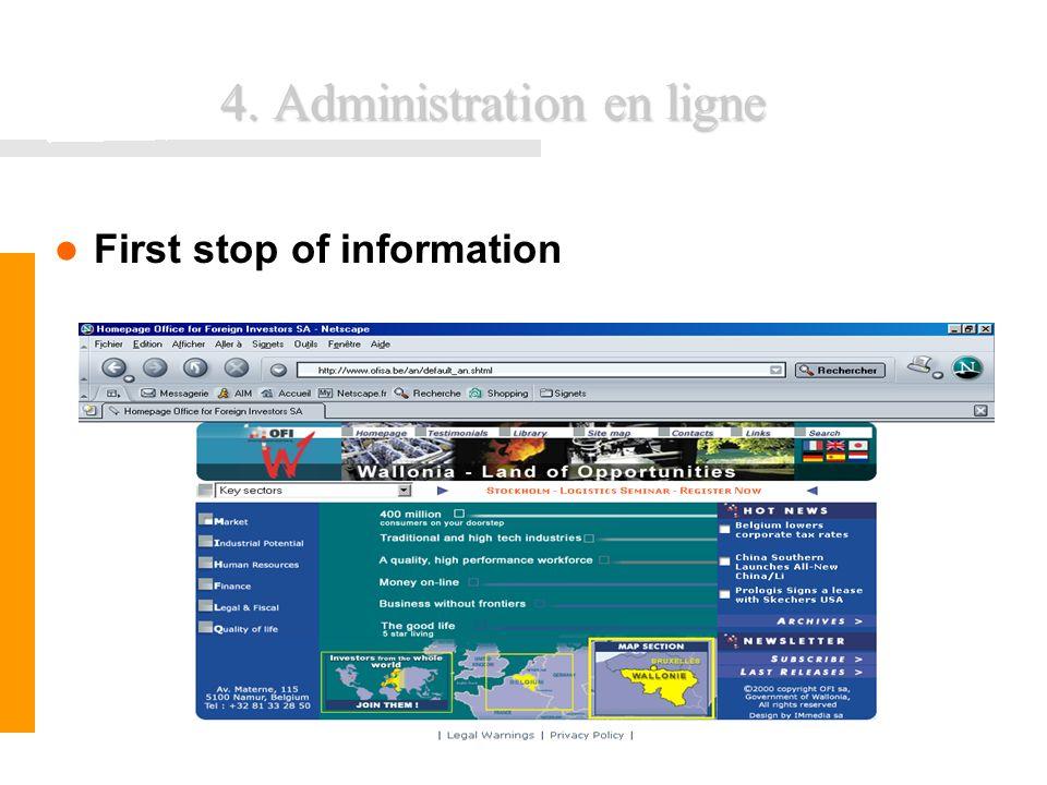 4. Administration en ligne