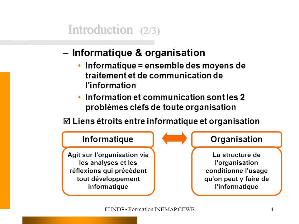 FUNDP - Formation INEMAP CFWB
