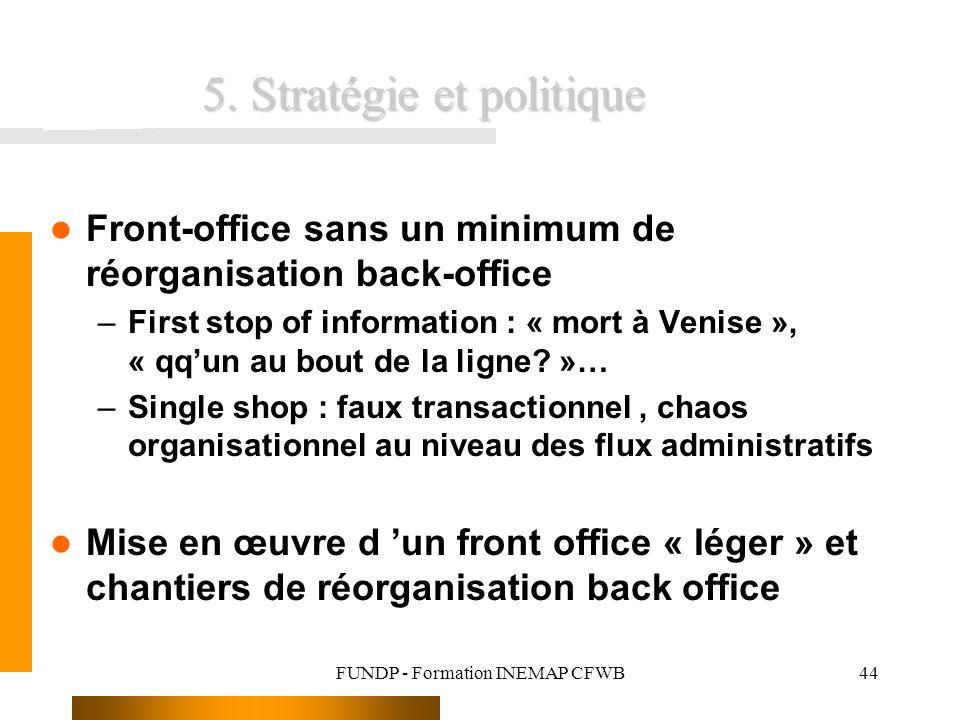 5. Stratégie et politique