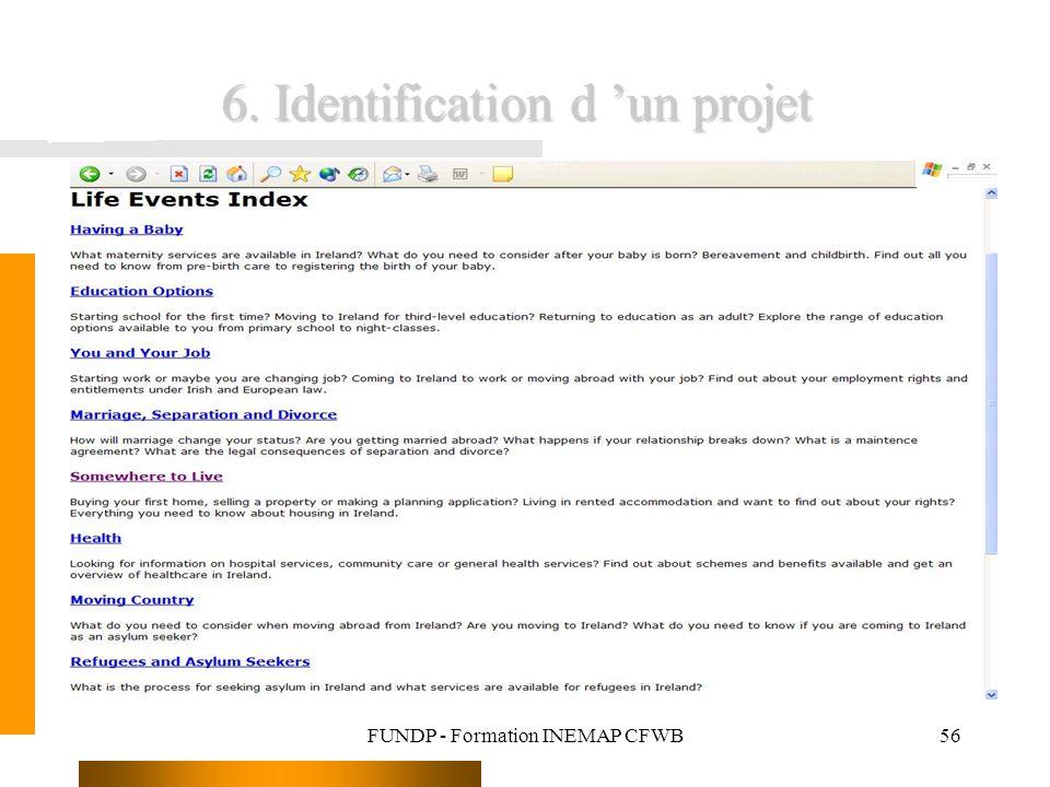6. Identification d 'un projet