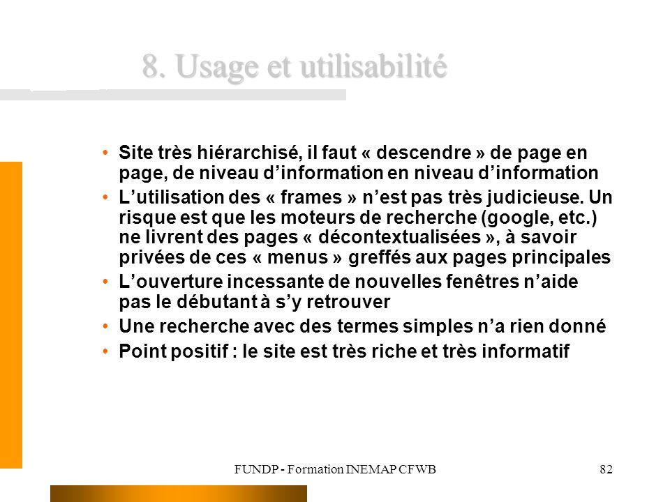 8. Usage et utilisabilité