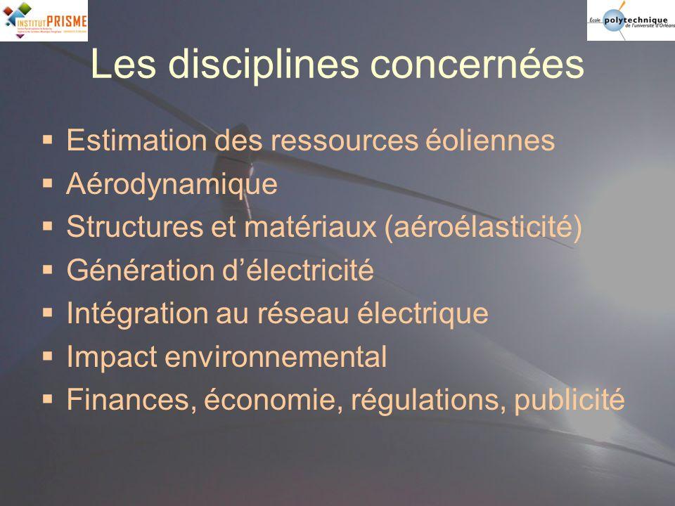 Les disciplines concernées