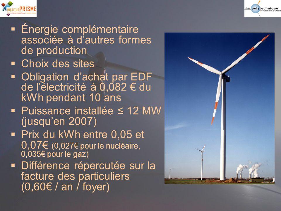 Énergie complémentaire associée à d'autres formes de production