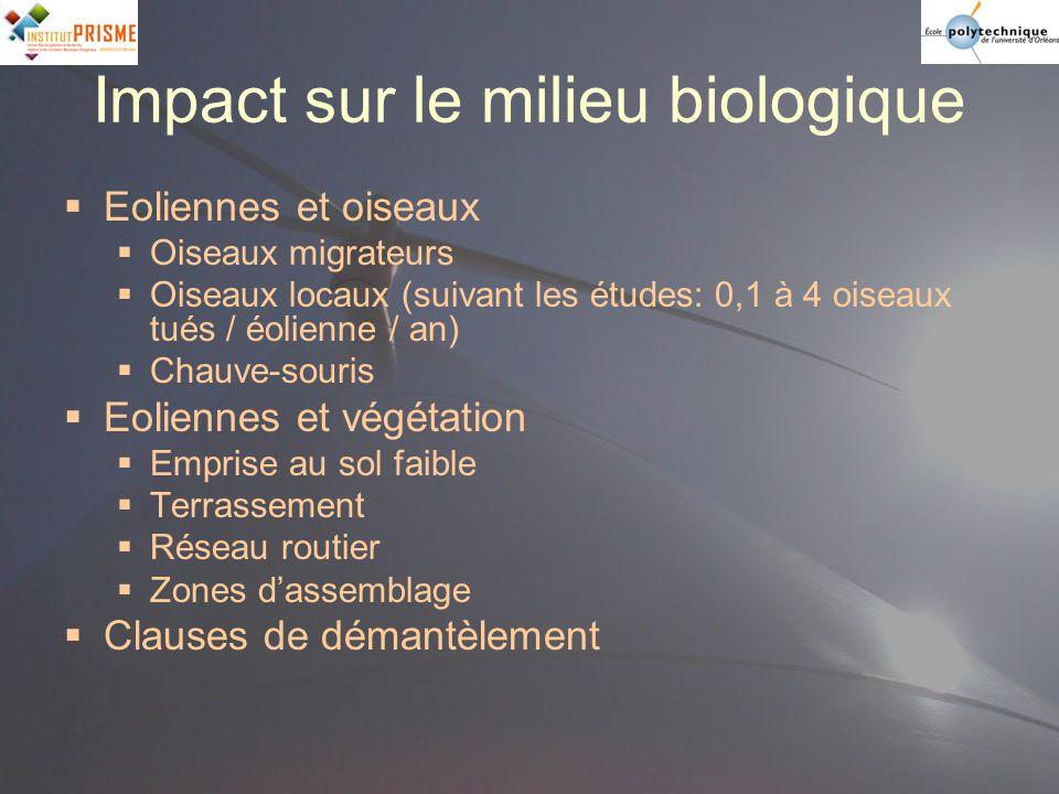 Impact sur le milieu biologique