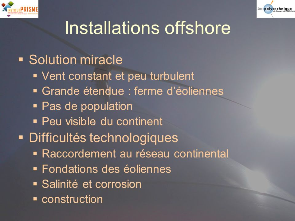 Installations offshore