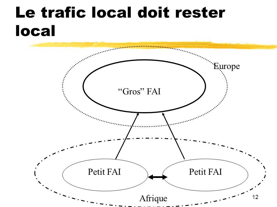 Le trafic local doit rester local