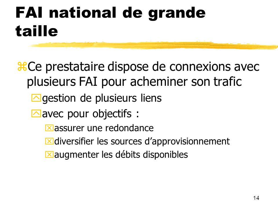 FAI national de grande taille