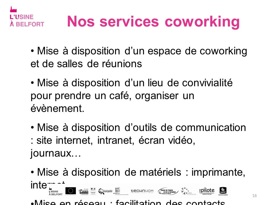 Nos services coworking