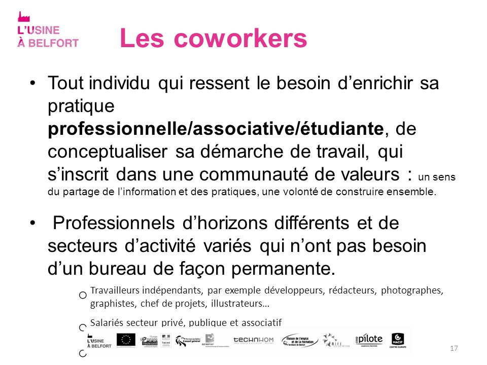 Les coworkers