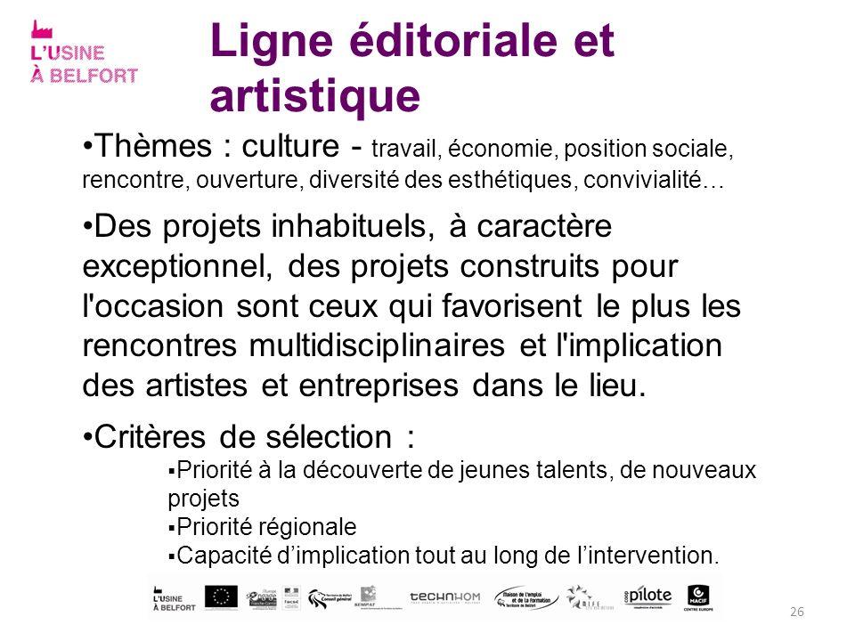 Ligne éditoriale et artistique