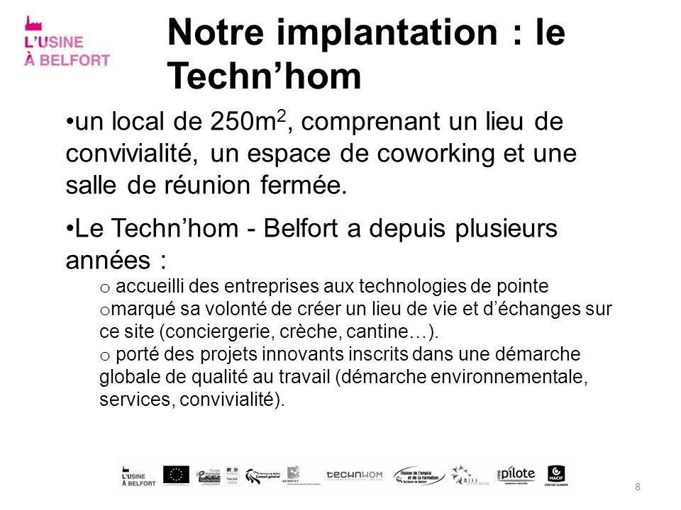 Notre implantation : le Techn'hom
