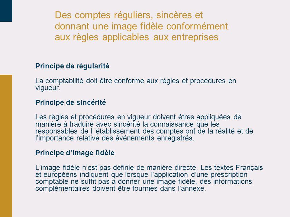 30/03/2017 Des comptes réguliers, sincères et donnant une image fidèle conformément aux règles applicables aux entreprises.