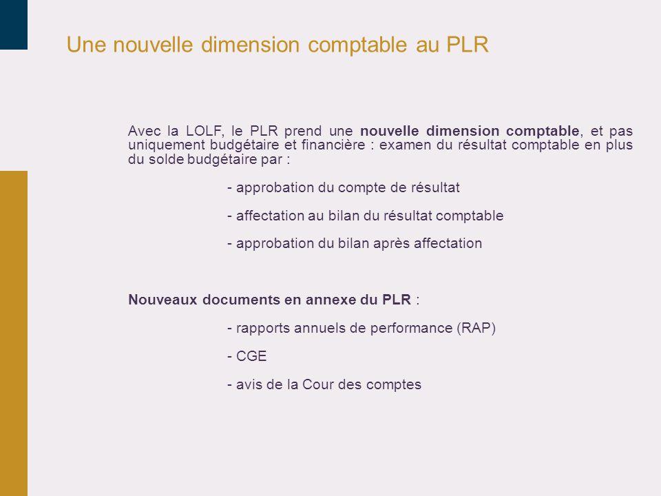 Une nouvelle dimension comptable au PLR