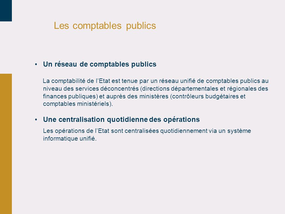 Les comptables publics