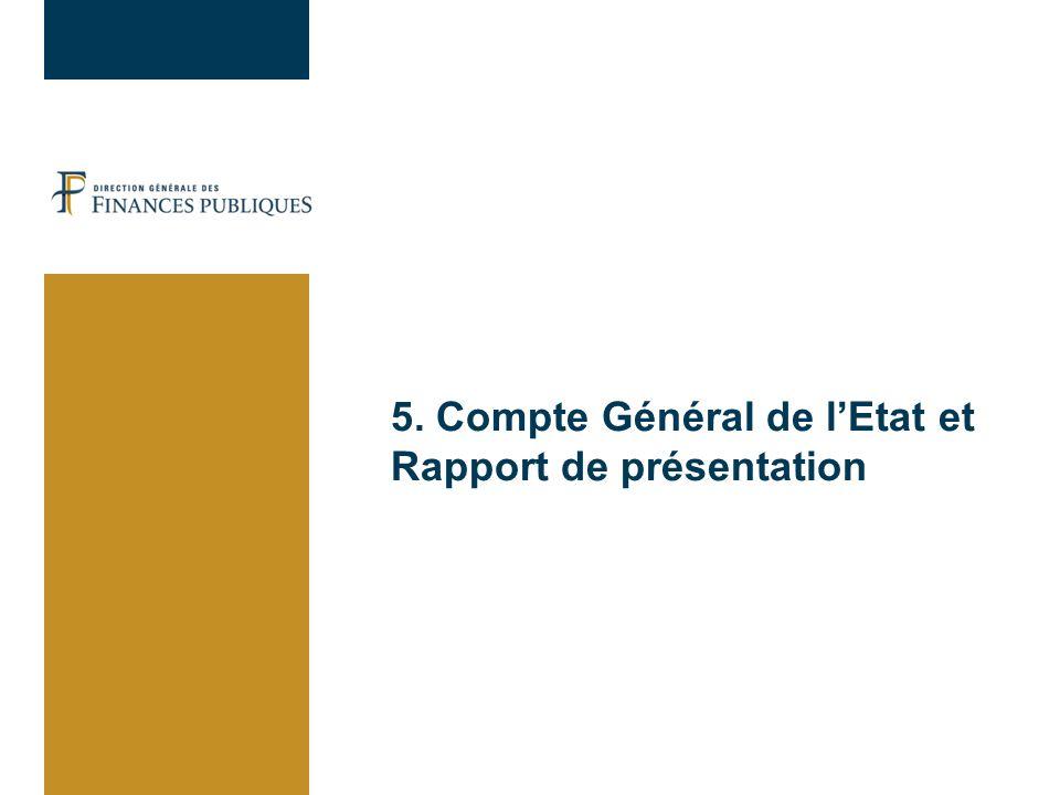 5. Compte Général de l'Etat et Rapport de présentation