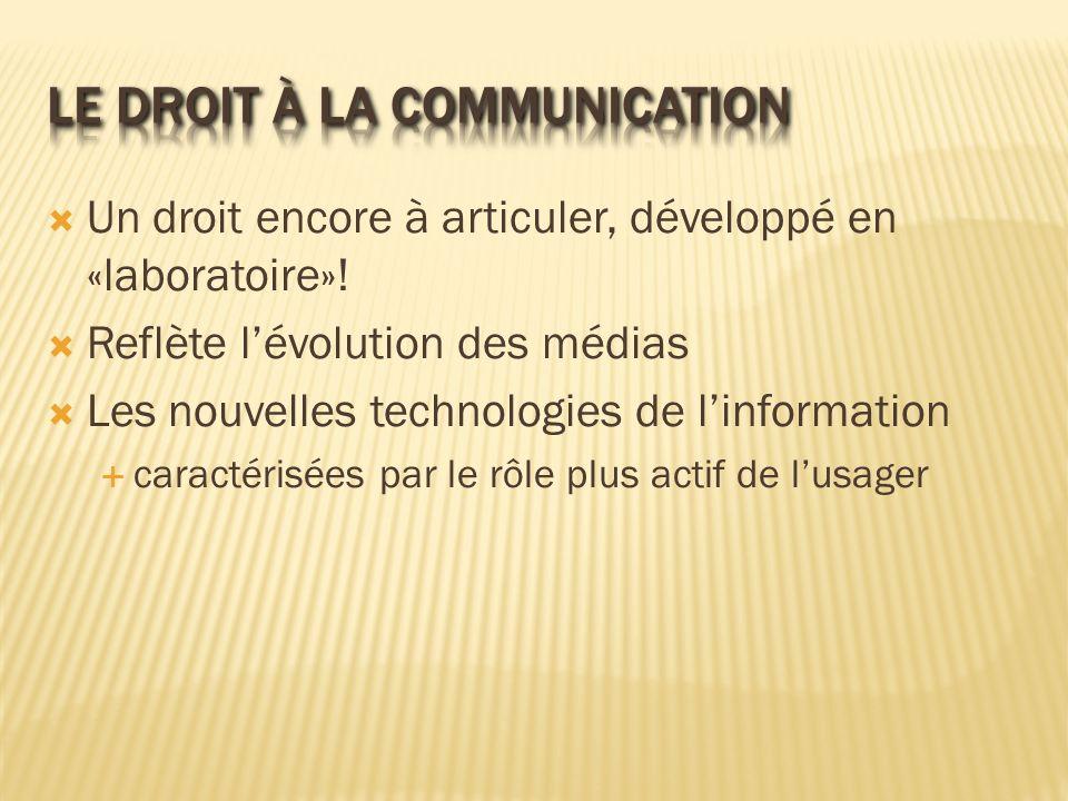 Le droit à la communication