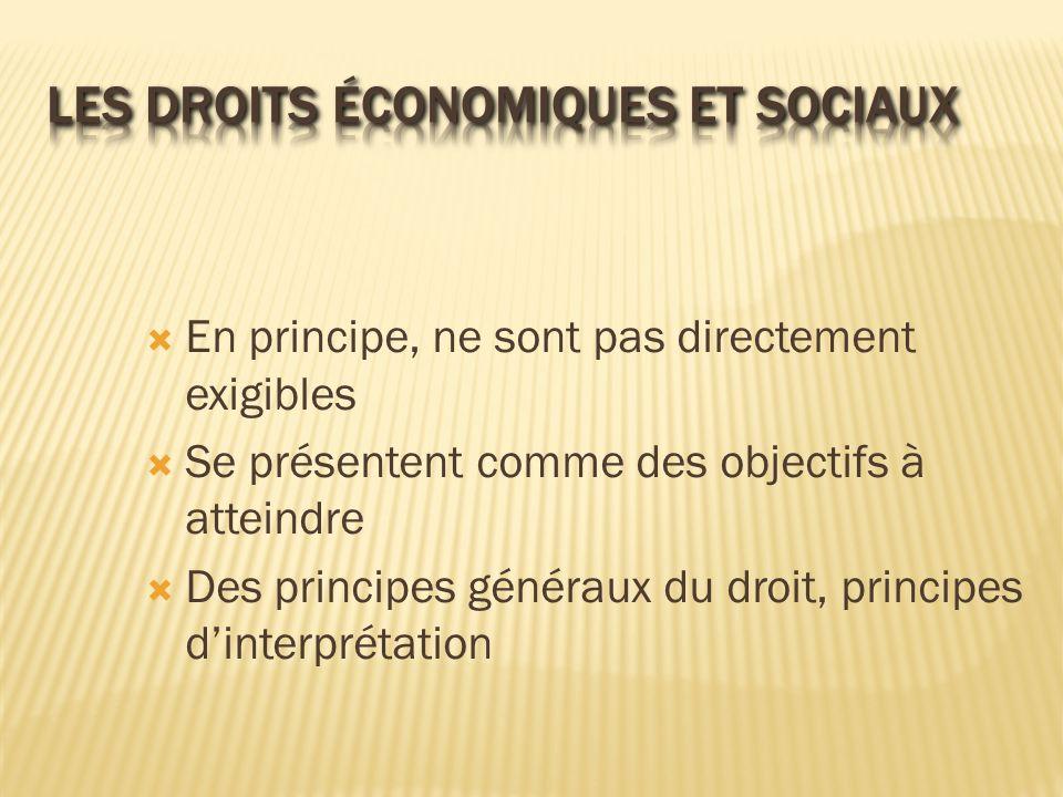 Les droits économiques et sociaux