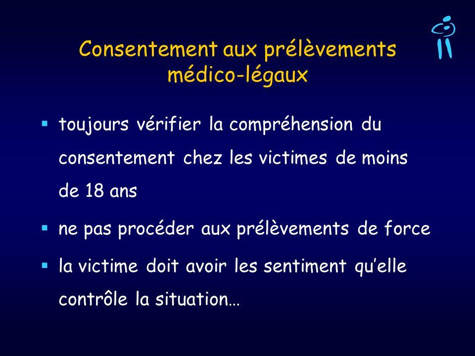 Consentement aux prélèvements médico-légaux