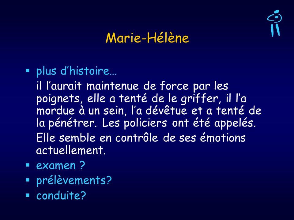 Marie-Hélène plus d'histoire…