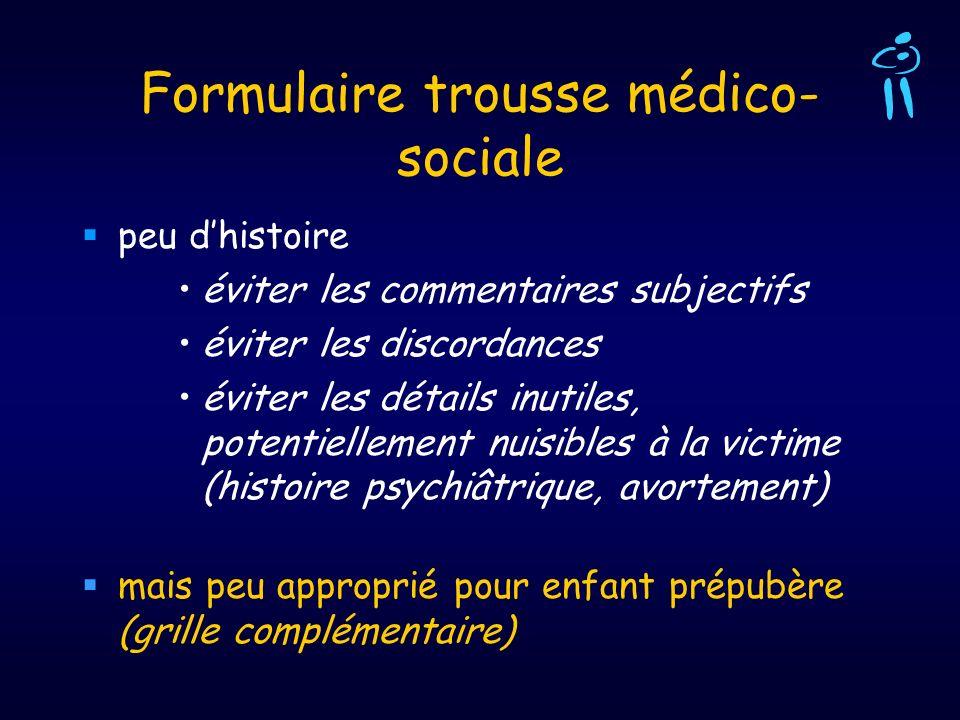 Formulaire trousse médico-sociale
