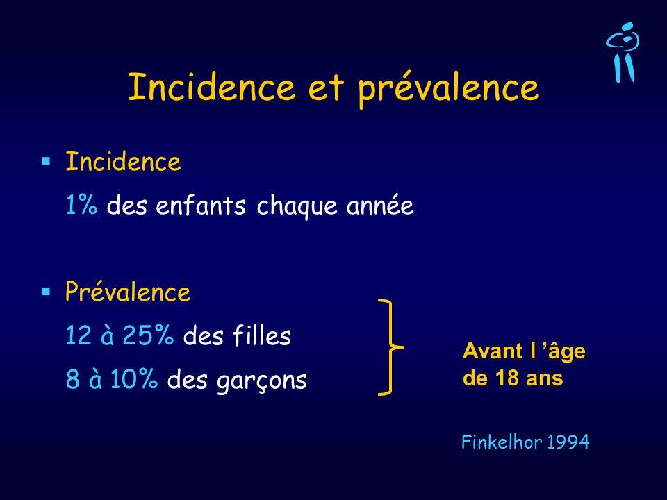 Incidence et prévalence