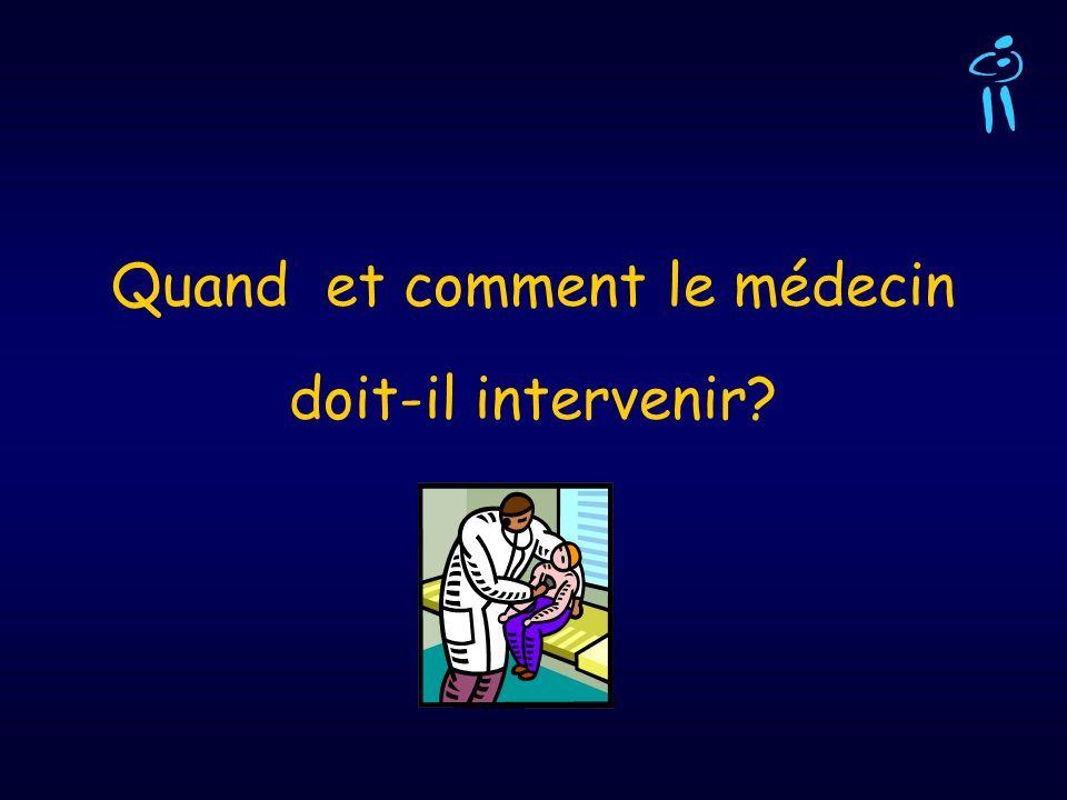 Quand et comment le médecin doit-il intervenir