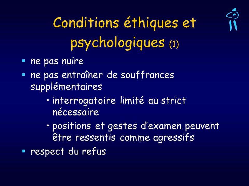 Conditions éthiques et psychologiques (1)