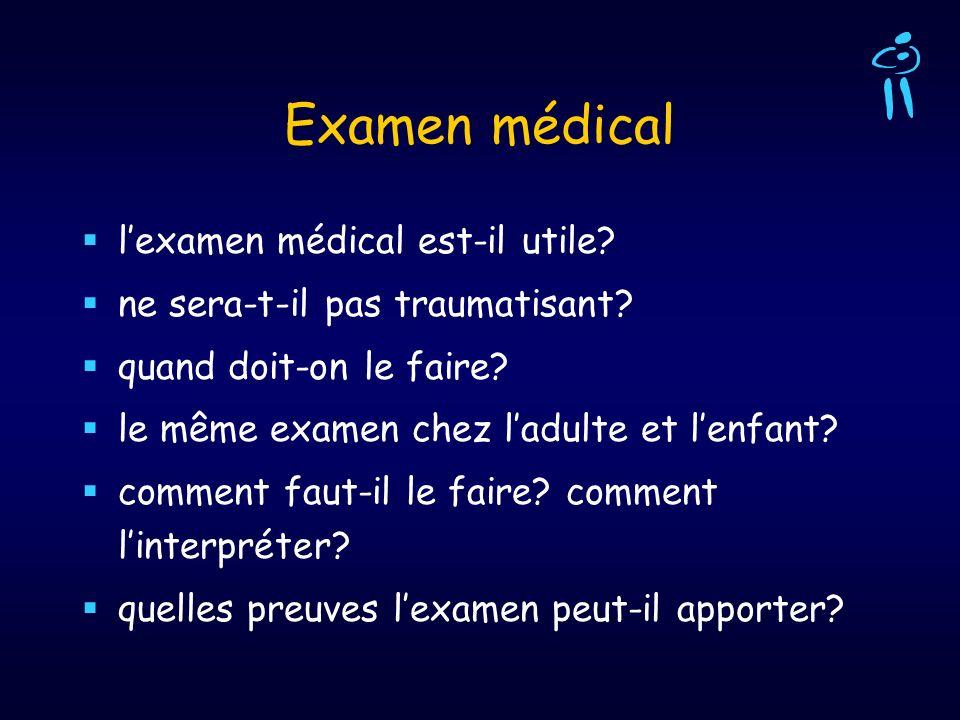 Examen médical l'examen médical est-il utile