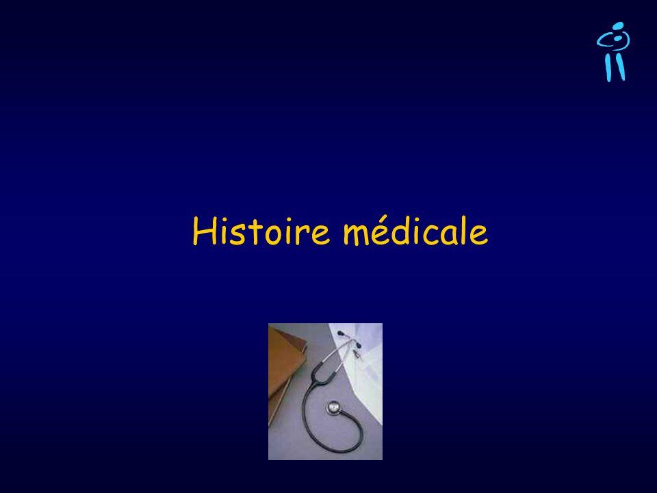 Histoire médicale