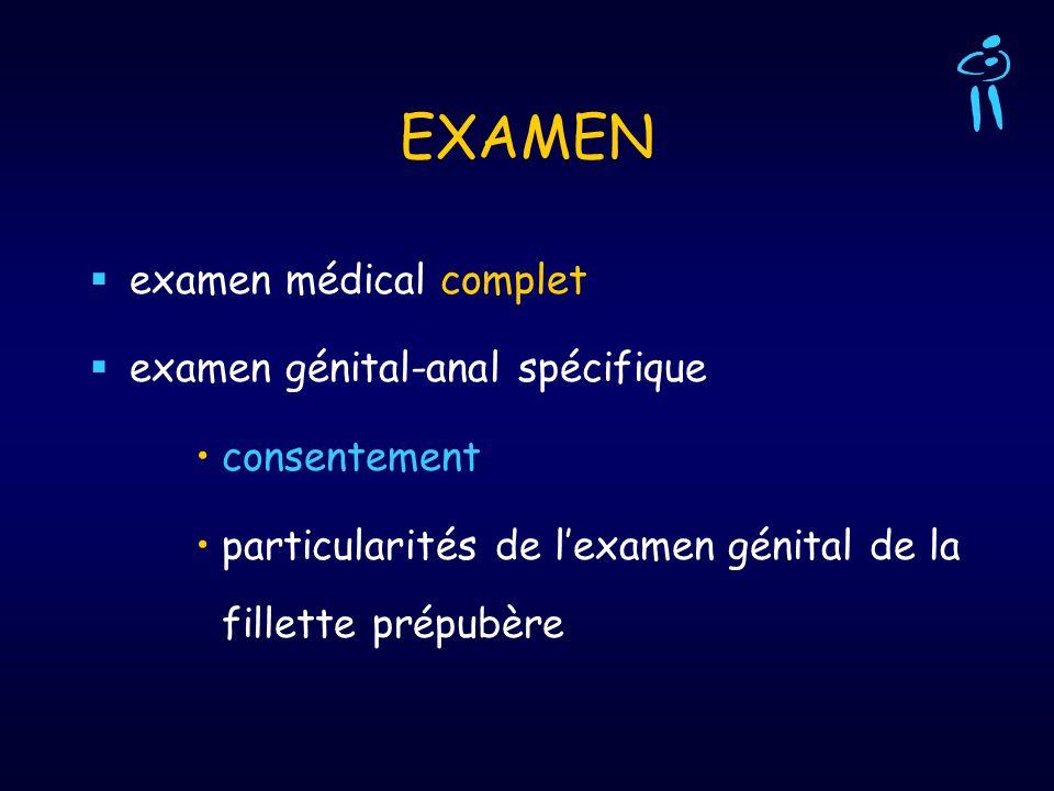 EXAMEN examen médical complet examen génital-anal spécifique