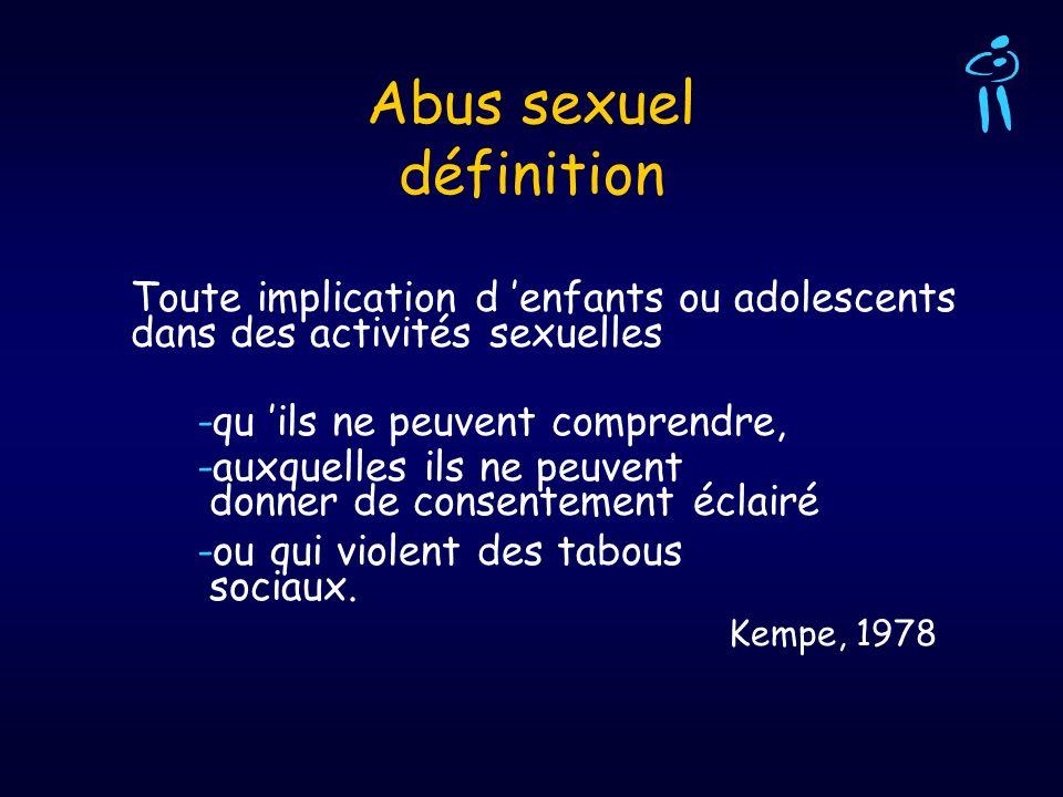 Abus sexuel définition
