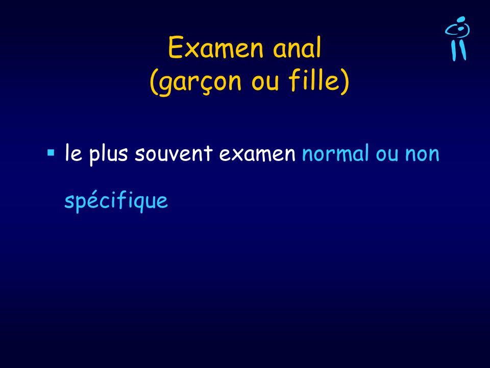 Examen anal (garçon ou fille)
