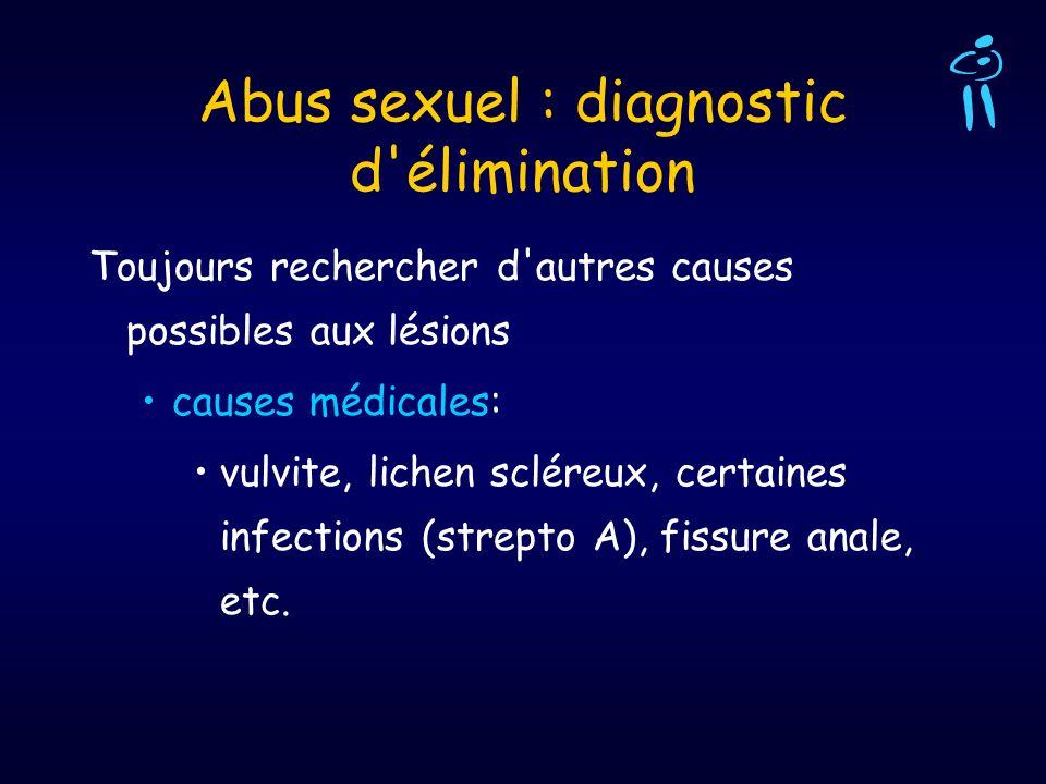 Abus sexuel : diagnostic d élimination