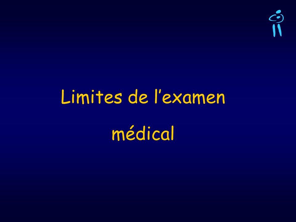 Limites de l'examen médical