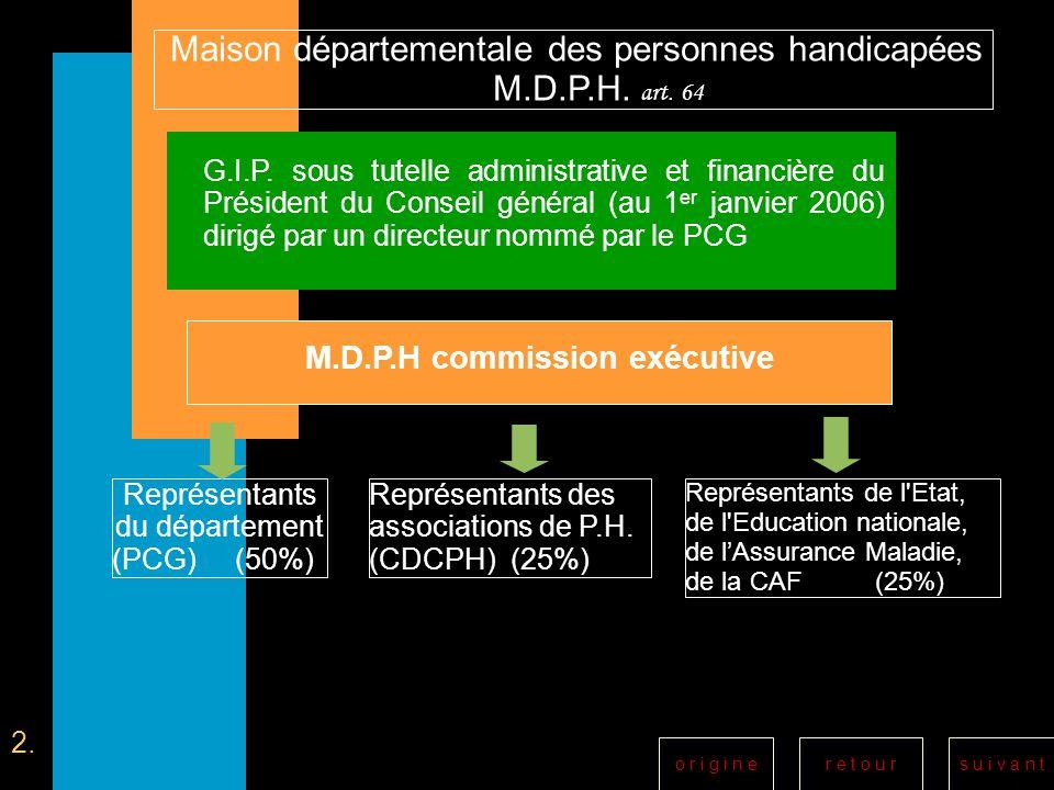M.D.P.H commission exécutive